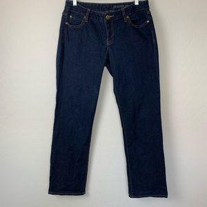 Gap premium curvy straight jeans size 8 ankle